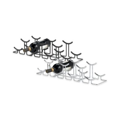 Spectrum™ Euro™ Hi-Lo 7-Bottle Wine Rack in Black