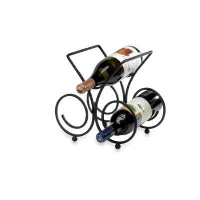 Spectrum™ Bordeaux Black 3-Bottle Wine Rack