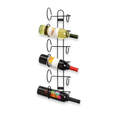 Black Mounted Wine Racks