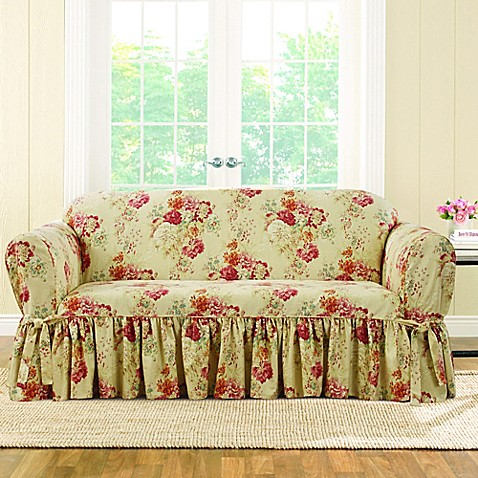Sure Fit 174 Ballad Bouquet By Waverly Loveseat Slipcover