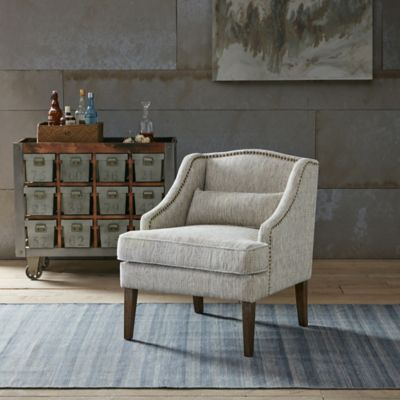 Madison Park Cholet Swoop Arm Accent Chair in Grey