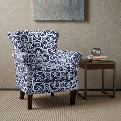 MP Brooke Club Chair in Navy/White