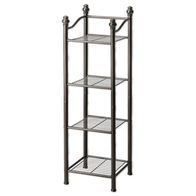 Neu Home Belgium 4-Tier Bathroom Tower in Oil Rubbed Bronze