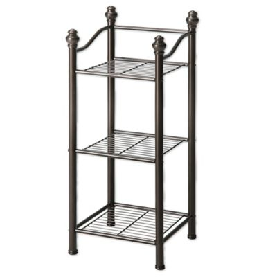 Neu Home Belgium 3-Tier Bathroom Tower in Oil Rubbed Bronze