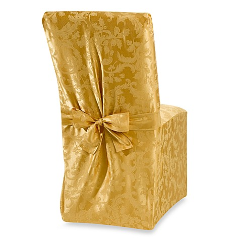 Winter Holly Gold Dining Room Chair Cover Bed Bath Beyond