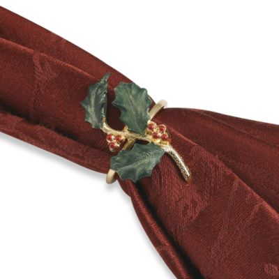 Lenox Holiday Napkin Rings (Set of 4)