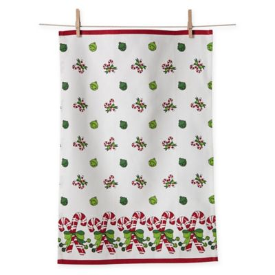 Candy Cane Cotton Kitchen Towels (Set of 2)