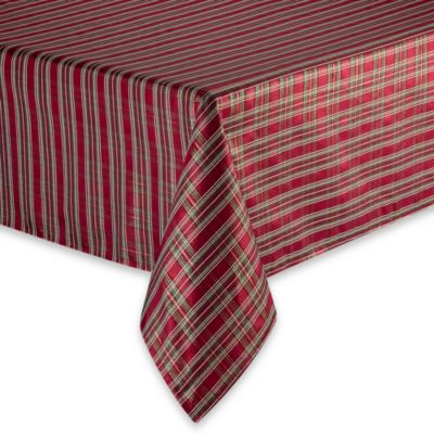 "Christmas Plaid 70"" Round Tablecloth"