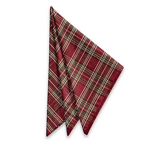 Christmas Plaid Napkin (Set of 4)