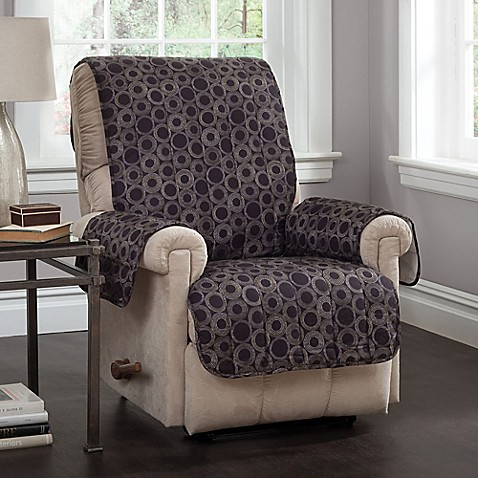 Circles Recliner And Wing Chair Cover In Black Bed Bath