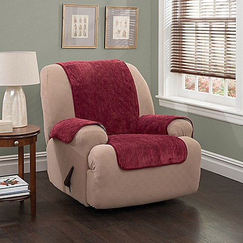 Plush Stripe Recliner And Wing Chair Cover Bed Bath Amp Beyond