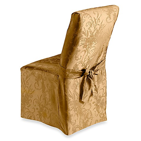 Autumn Splendor Gold Dining Room Chair Cover Bed Bath Beyond