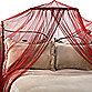 Siam Bed Canopy and Mosquito Net in Ruby Red