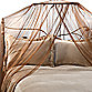Siam Bed Canopy and Mosquito Net in Coco Brown