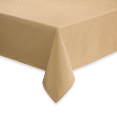 Windsor Stain Resistant 70-Inch x 84-Inch Oblong Tablecloth in Gold