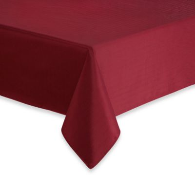 Windsor Stain Resistant 70-Inch x 104-Inch Tablecloth in Wine