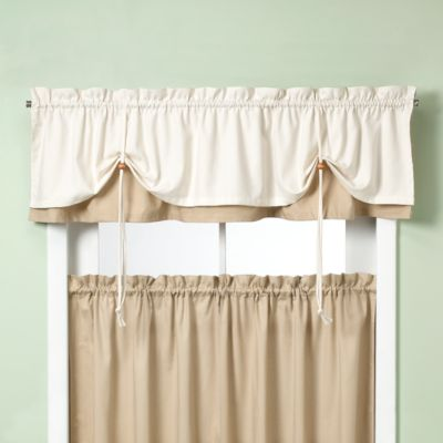 white valance curtains
