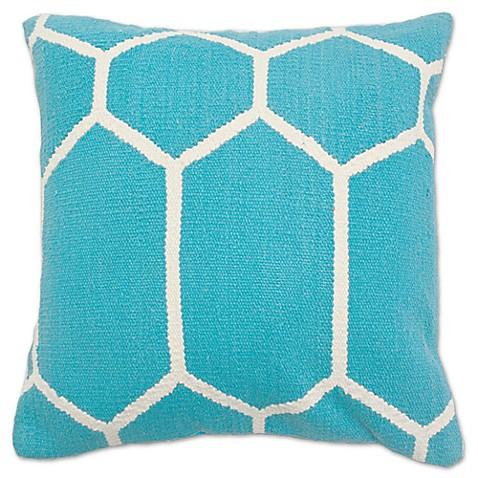 Outdoor Throw Pillows Kmart : Aura Woven Hexagons 20-Inch Square Throw Pillow - www.BedBathandBeyond.com