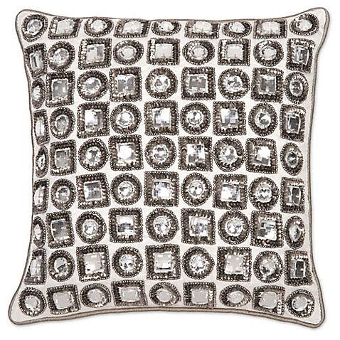 Aura Jewel 12-Inch Square Throw Pillow - www.BedBathandBeyond.com