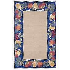 Fruit Border Rug in Blue