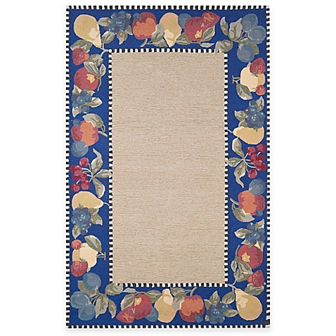 "Fruit Border 24"" x 36"" Accent Rug - Blue"