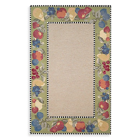 Fruit Border 2-Foot x 3-Foot Accent Rug in Lime