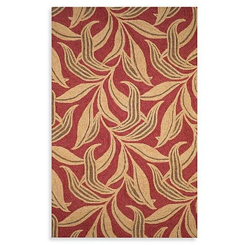 "Leaf 42"" x 66"" Accent Rug - Red"