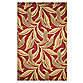 Leaf 5-Foot x 8-Foot Room Size Rug in Red