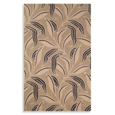 Leaf 2-Foot x 3-Foot Accent Rug in Neutral