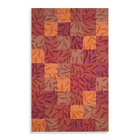 Box Vines Spice Room Size Rug - 5-Foot x 8-Foot