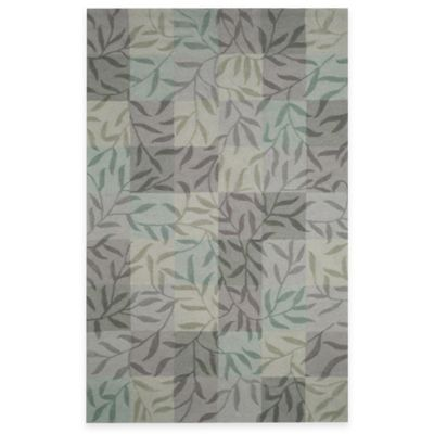 Box Vines Aqua 8-Foot x 10-Foot Room Size Rug