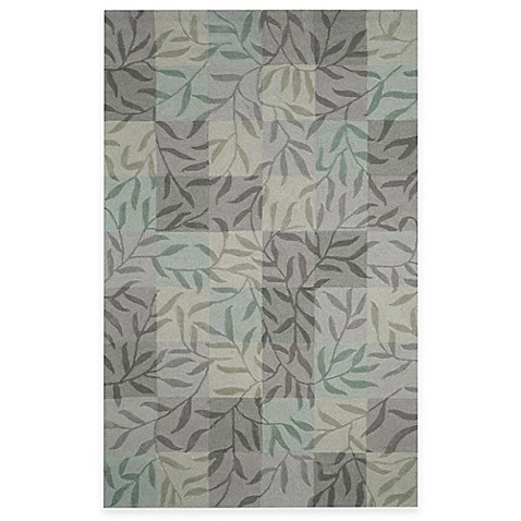 Box Vines 5' x 8' Room Size Rug - Aqua