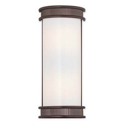 Minka Lavery® Federal Restoration™ 2-Light Wall Sconce in Copper Patina Bronze with Shade