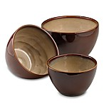 Nova Brown 3-Piece Mixing Bowl Set