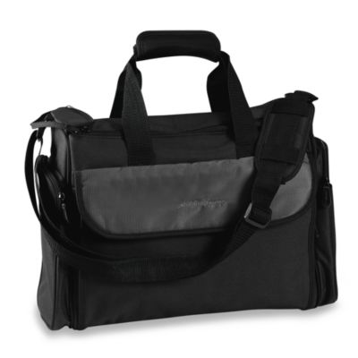 Eddie Bauer® Coord in ate Organizer Diaper/Duffel Bag in Black
