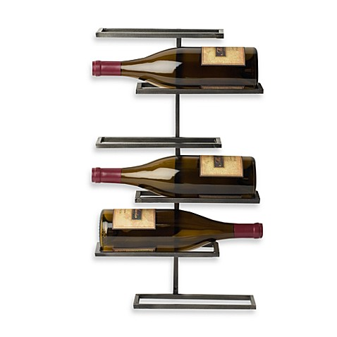 SoHo 6-Bottle Wall-Mounted Wine Rack