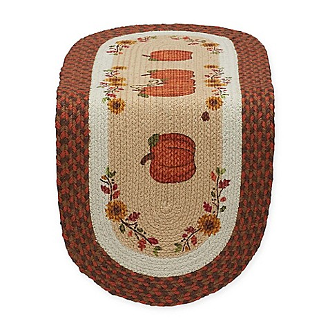 Country Pumpkin 36 Inch Braided Table Runner Www