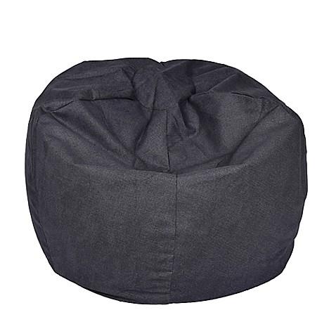 extra large bean bag chair in vintage denim bed bath beyond. Black Bedroom Furniture Sets. Home Design Ideas