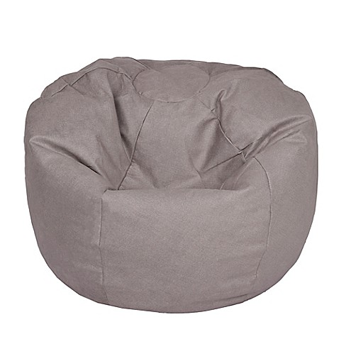Extra Large Bean Bag Chair In Brushed Denim Fog Bed Bath