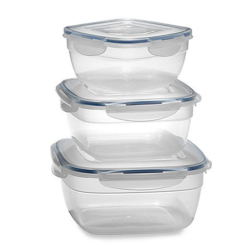 Lock & Lock® Square Storage Containers  (Set of 3)