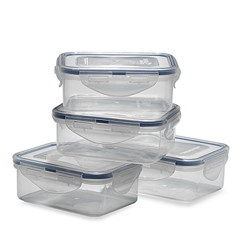 Lock & Lock® Rectangular Storage Containers (Set of 4)