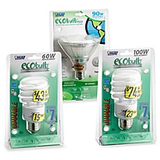 Ecobulb® Energy Saving Compact Fluorescent Bulbs