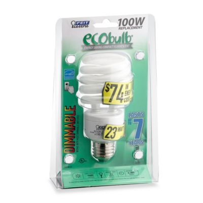 Feit Electric ecobulb® Energy Saving 100 W Fluorescent Dimmer Bulb
