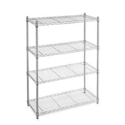 Commercial Grade 4-Tier Shelving Unit in Chrome