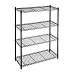 Commercial Grade 4-Tier Shelving Unit in Black
