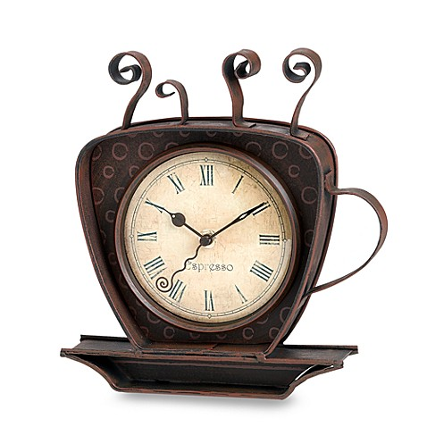 Espresso Coffee Cup Clock Bed Bath Amp Beyond