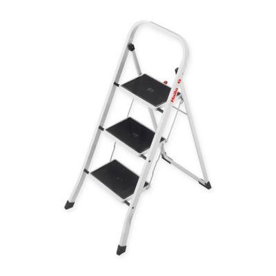 Hailo™ 3-Step Steel K30 Step Stool in White