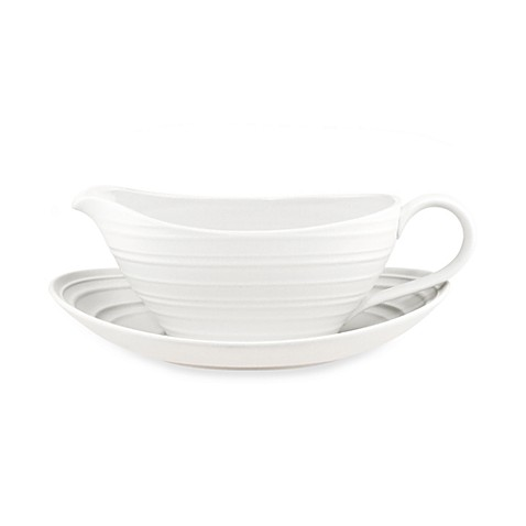 Mikasa® Swirl Gravy Boat with Saucer in White