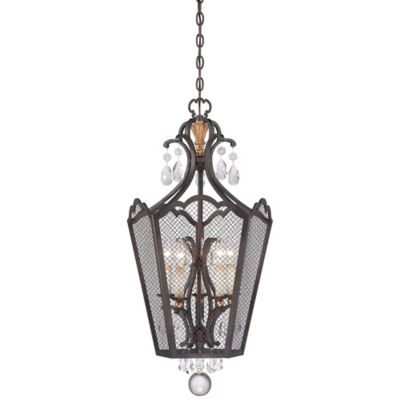 Buy Feiss Joplin 3 Light Pendant In Light Antique Bronze From Bed