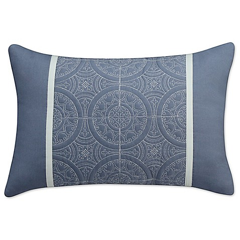 Cadiz Rectangle Throw Pillow in Blue/Grey - Bed Bath & Beyond